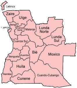 Angola Provinces