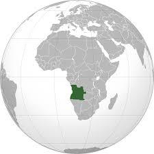 Angola on the Globe