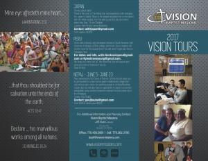 Vision Tours Brochure 2017